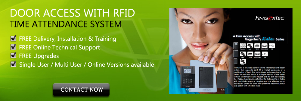 RFID Door Access Time Attendance System